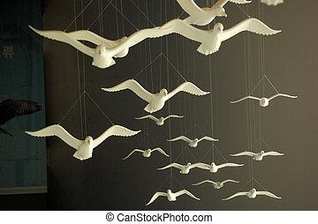 oiseaux, plastique