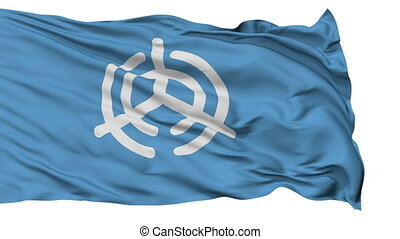 Oita Capital City Isolated Flag - Oita Capital City Flag,...