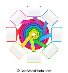 oito, elementos, círculo