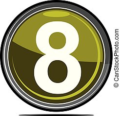 oito, logotipo, desenho, modelo, vetorial