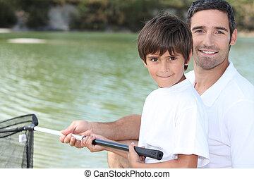 ojciec, kuter rybacki, syn
