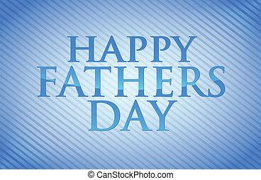 ojcowie, ilustracja, projektować, dzień, karta, szczęśliwy