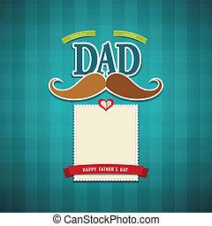 ojcowie, szczęśliwy, dzień, karta, powitanie