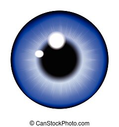 ojo, alumno, ball., ojo