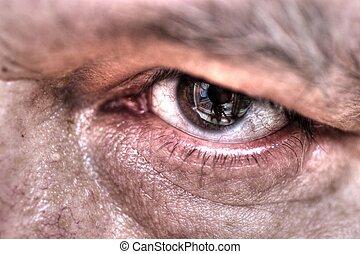 ojo, cicatrizarse