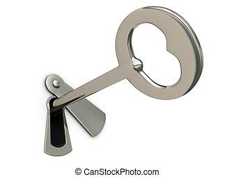 ojo de la cerradura, llave