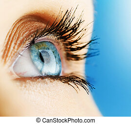 ojo de la mujer, hermoso