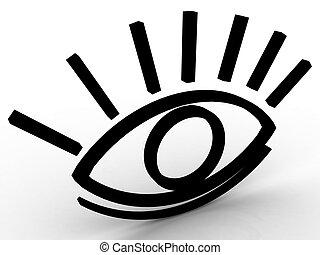 ojo, estilizado