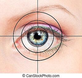 ojo humano, y, blanco
