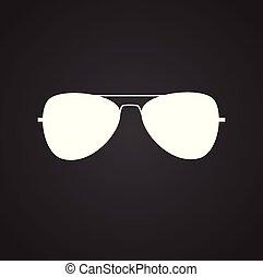 ojo negro, uso, plano de fondo, moderno, anteojos