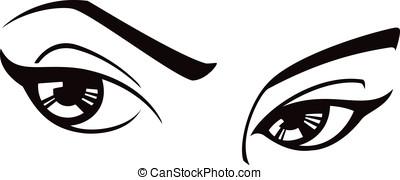 ojos, hembra