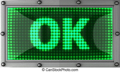 ok announcement on the LED display