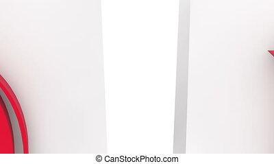 O.k concept on white shopping bags