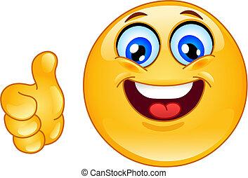 ok emoticon - Thumb up emoticon