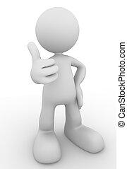 ok hand sign gesture concept  3d illustration