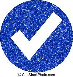 Ok Icon Grunge Watermark