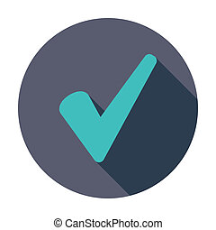 Ok icon. - Ok. Single flat color icon. Vector illustration.