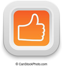 Ok like button vector set. - Ok like button, yes symbol. ...