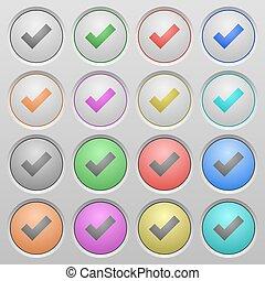 Ok plastic sunk buttons