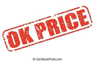 OK PRICE red stamp text