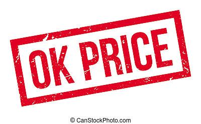 Ok Price rubber stamp