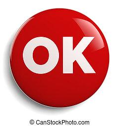 OK Red Icon Symbol Graphic