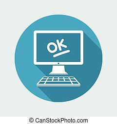Ok result - Approved application - Vector flat icon