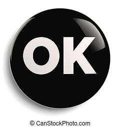 OK Round Icon Symbol