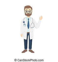 Ok sign doc. - Ok sign doctor in white uniform on white ...