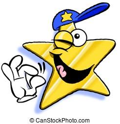 OK, star! - cartoon star giving OK sign