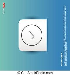 Ok tick icon - Blue Sticker button