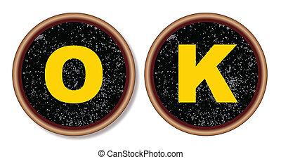 OK Typewriter Keys