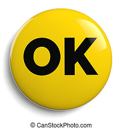 OK Yellow Icon Symbol