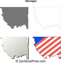 Okanogan County, Washington outline map set