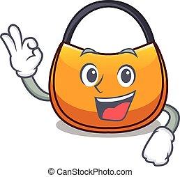 Okay beautifully hobo bag on character funny vector...