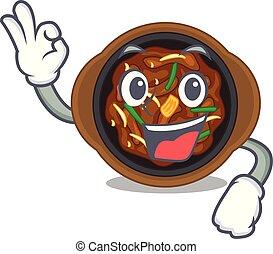 Okay bulgogi in a the bowl cartoon