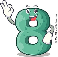 Okay number house eight the shaped character