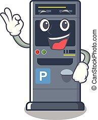 Okay parking vending machine the cartoon shape