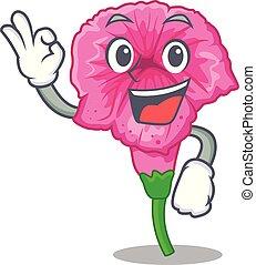 Okay petunia flowers on the stalk cartoons vector illustration