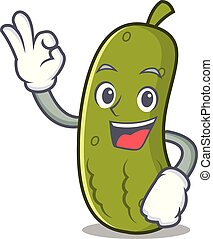 Okay pickle character cartoon style