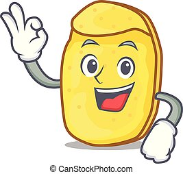 Okay potato chips character cartoon