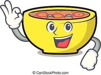 Okay soup union character cartoon