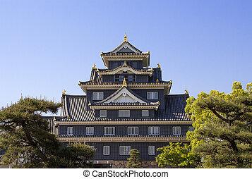 Okayama castle in Japan Okayama
