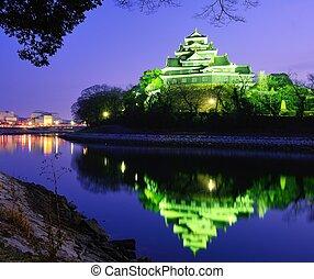 Okayama Castle in Okayama Japan. January 30