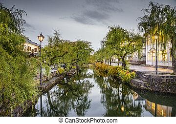 Okayama, Japan Historic Canal - Okayama, Japan at the ...