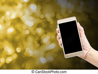 okienko osłaniają, smartphone, dzierżawa ręka