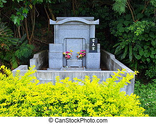 Traditional tomb in Okinawa, Japan where the whole family is buried.