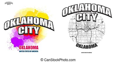 Oklahoma City, Oklahoma, two logo artworks
