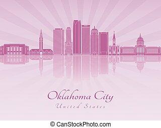 Oklahoma City V2 skyline in purple radiant orchid