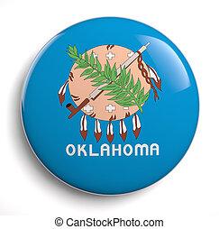 Oklahoma flag - Oklahoma state flag isolated icon.